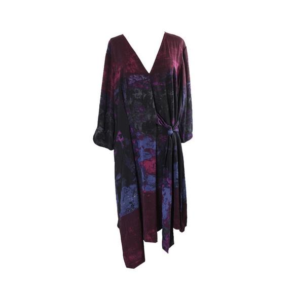 Rachel Rachel Roy Dresses Plus Size Burgundy Pleated Dress Poshmark